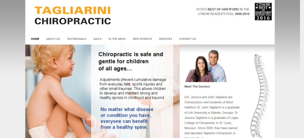 West Hartford, CT Chiropractic services by Dr Tagliarini's